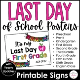 {FREEBIE}  2019-2020 End of the Year Sign - It's my last d