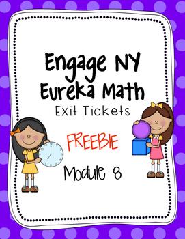 {FREEBIE} -Engage NY -Eureka Math EXIT Tickets- Module 8