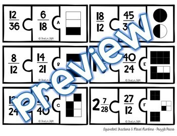 FREEBIE - Equivalent Fractions & Mixed Numbers TASK CARDS