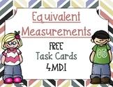 *FREEBIE* Equivalent Measurement Task Cards