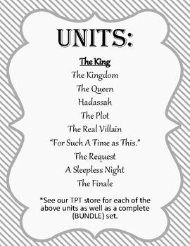 {FREEBIE} Esther Kids Bible Study Unit. Unit 1: The King