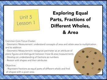 Everyday Math 4 Gr.3 U.5 L.1: Exploring Equal Parts, Fract