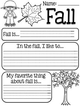 Fall Writing Prompt