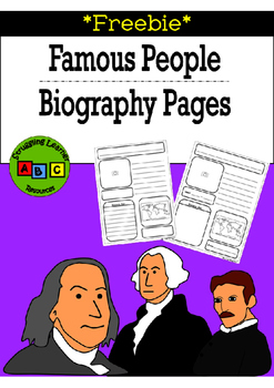 *FREEBIE* - Famous People Biography Sheets