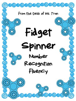 **FREEBIE** Fidget Spinner Number Recognition Fluency GREAT FOR K-1!