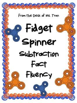 **FREEBIE** Fidget Spinner Subtraction Fact Fluency INCREASE FACT FLUENCY
