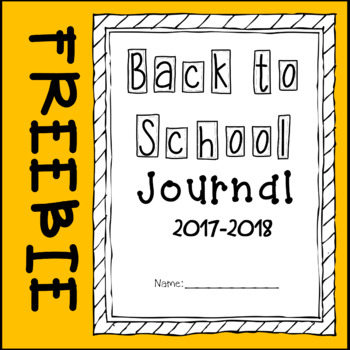 *FREEBIE* First Day of School Journal