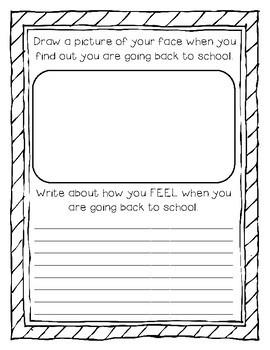 FREEBIE* First Day of School Journal