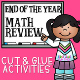 End of the Year Cut and Paste Activities for Math