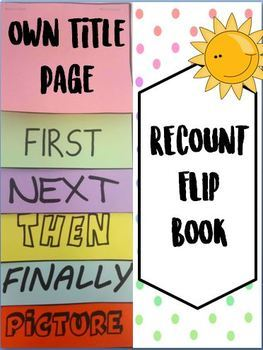 *FREEBIE* Flip book - write a recount