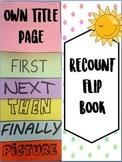 *FREEBIE* Flip book - write a recount