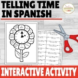 Telling Time in Spanish Printable Interactive Notebook Activity