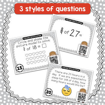 {FLASH FREEBIE} Fractional Parts of a Group QR Coded Task Cards