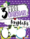 **FREEBIE** Fun Chalk Texture Templates with Name Section