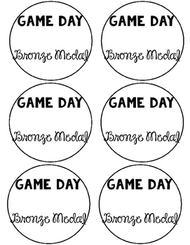*FREEBIE* Game Day Medallions