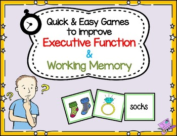 *FREEBIE* Game to Improve Executive Function & Working Memory