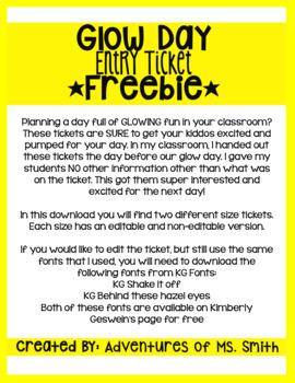 *FREEBIE* Glow Day - Entry Ticket
