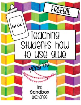*FREEBIE* Glue Dots Worksheets for Teaching Young Students How to Use Glue