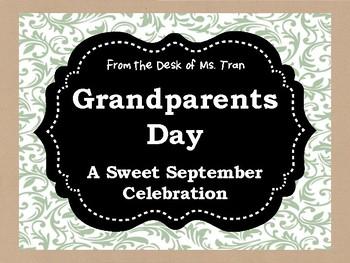 **FREEBIE**  Grandparents Day: A Sweet September Celebration