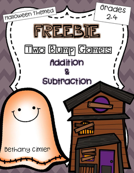 {{FREEBIE}} Halloween Themed Addition & Subtraction Bump Games