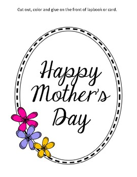 {FREEBIE} Happy Mother's Day Lapbook & Interactive Notebook