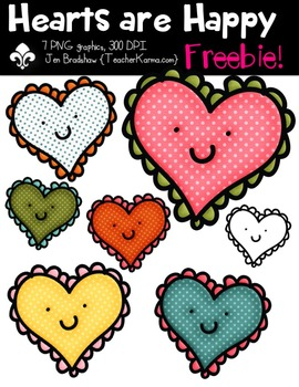 {FREEBIE} Hearts are Happy Clipart ~ Commercial OK ~ Valen