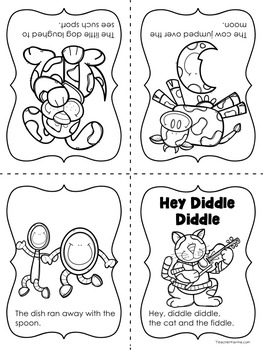 {FREEBIE} Hey Diddle Diddle Foldable Reader Nursery Rhymes ~ Intervention RTI