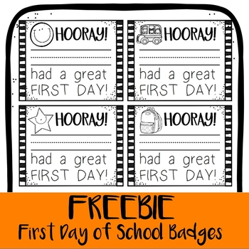 *FREEBIE* Hooray for the First Day! Back to School Brag Badges