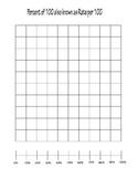 *** FREEBIE *** Hundreds Grid with Number Line (Percentages)