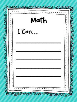 **FREEBIE**  I Can Reading and Math Posters for Intervention/Special Education