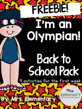 *FREEBIE* I'm An Olympian! Back to School Pack ~ Olympics 2016