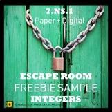 ⭐FREEBIE Integer Escape Room: Adding & Subtracting Integers {SAMPLE}⭐