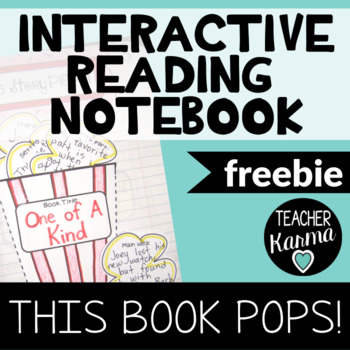 {FREEBIE} Interactive Reading Notebook * Popcorn Themed Bo