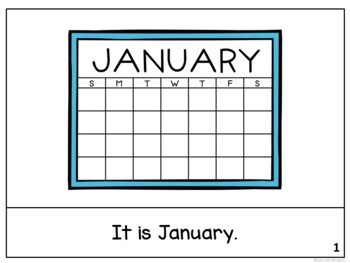 *FREEBIE* It is January ~January reader {Young Readers, ESL, EFL}