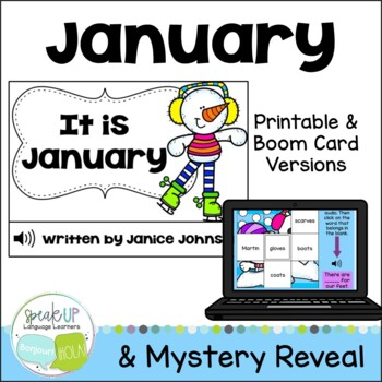 *FREEBIE* It is January ~January reader {Young Readers, ESL, EFL}