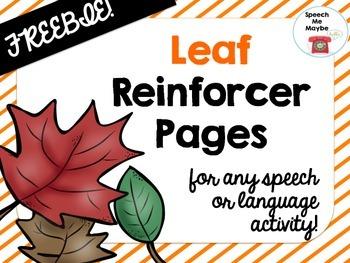 {{FREEBIE}} Leaf Reinforcer Pages