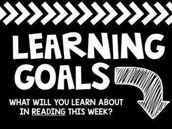 Learning Goals Sign Set