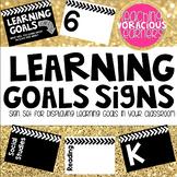 Learning Goals Bulletin Board Sign Set