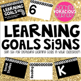 Learning Goals Sign Set