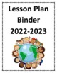 **FREEBIE** Lesson Plan Binder Cover for 2017-2018!