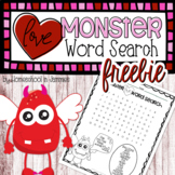 **FREEBIE** Love Monster Word Search - Valentines Day Fun