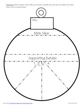 {FREEBIE} Main Idea Ornament