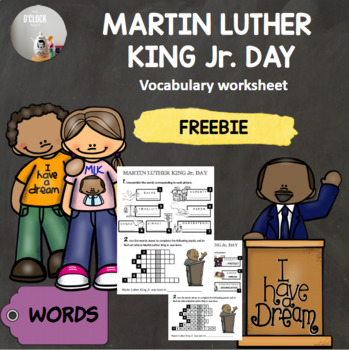 [FREEBIE] Martin Luther King Jr. Day - vocabulary worksheet