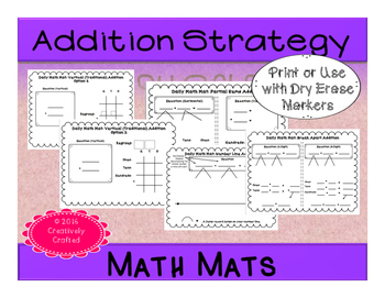 *FREEBIE* Math Mat: Addition Strategies Trial