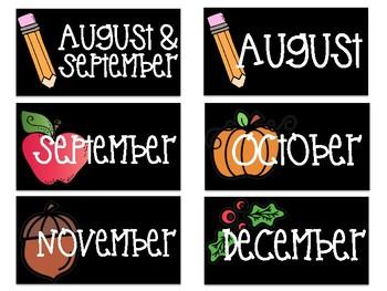 *FREEBIE* Monthly Book Bin Labels