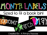 *FREEBIE* Monthly Book Bin Labels