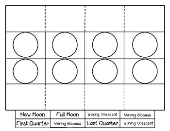 {*FREEBIE*} Moon Phases and Earth's Tilt Vocabulary Foldables
