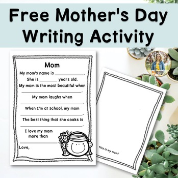 {FREEBIE: Mother's Day Writing Activity}