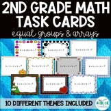 2nd Grade Math Task Cards: Arrays and Equal Groups - 10 Themes!