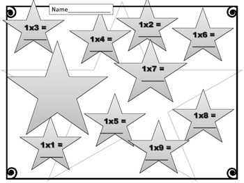{FREEBIE} Multiply by One. Worksheets. Times Tables. 1. Multiplication